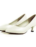 Недорогие -Жен. Балетки Наппа Leather Осень Обувь на каблуках На шпильке Черный / Бежевый