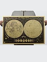 Недорогие -лунная карта 72x48см крафт-бумага бар плакат ретро-постер декоративная роспись