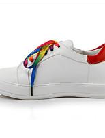 Недорогие -Жен. Комфортная обувь Полиуретан Осень На каждый день Кеды На плоской подошве Круглый носок Белый / Красный / Зеленый