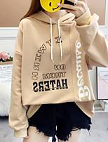 Недорогие -женский праздник длинный рукав slim hoodie - письмо с капюшоном