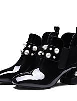 Недорогие -Жен. Комфортная обувь Наппа Leather / Полиуретан Осень Ботинки На плоской подошве Черный / Серый