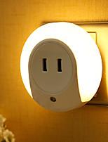 Недорогие -1шт Розетка LED Night Light / Настенный светильник / Умный ночной свет Тёплый белый От электросети Smart / Двойной разъем USB / Управление освещением 5 V