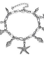 Недорогие -Ретро лодыжке браслет - морская звезда Художественный, Бикини Серебряный Назначение Бикини Жен.
