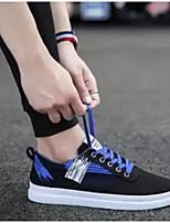 Недорогие -Муж. Комфортная обувь Полотно Весна & осень Кеды Черный / Красный / Черный / зеленый / Черный / синий