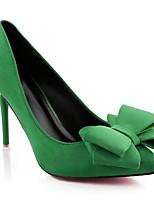 Недорогие -Жен. Комфортная обувь Замша Весна Обувь на каблуках На шпильке Черный / Зеленый