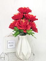 abordables -Fleurs artificielles 1 Une succursale Classique Moderne Pivoines Fleur de Table