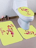 Недорогие -3 предмета Modern Коврики для ванны 100 г / м2 полиэфирный стреч-трикотаж Животное Прямоугольная Ванная комната Новый дизайн