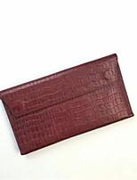 baratos -Mulheres Bolsas Pele Bolsa de Mão Côr Sólida Verde Tropa / Vinho / Khaki