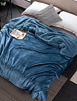 baratos -Flanela, Impressão Reactiva Sólido Algodão / Poliéster cobertores