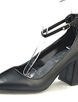 Недорогие -Жен. Балетки Полиуретан Осень На каждый день Обувь на каблуках На толстом каблуке Черный / Бежевый / Коричневый / Повседневные
