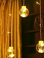Недорогие -2м Гирлянды 108 светодиоды Тёплый белый Декоративная 220-240 V 1 комплект