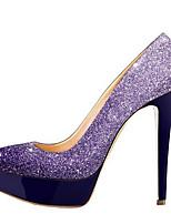 Недорогие -Жен. Комфортная обувь Полиуретан Весна Обувь на каблуках На шпильке Черный