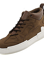 Недорогие -Муж. Комфортная обувь Полиуретан Осень На каждый день Кеды Нескользкий Желтый / Кофейный / Военно-зеленный