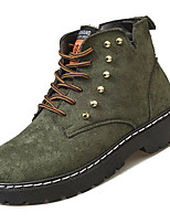 Недорогие -Жен. Армейские ботинки Полиуретан Зима На каждый день Ботинки На низком каблуке Сапоги до середины икры Черный / Зеленый