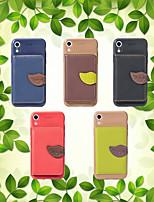 billiga -fodral Till Apple iPhone XS / iPhone XR Plånbok / Korthållare / med stativ Skal Enfärgad Mjukt PU läder för iPhone XS / iPhone XR / iPhone XS Max