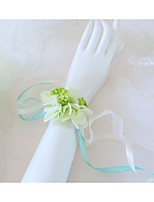 Недорогие -Свадебные цветы Букетик на запястье Свадьба / Свадебные прием Шелковый Как атласные / Кружево / Ткань 0-10 cm