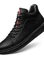 Недорогие -Муж. Кожаные ботинки Наппа Leather Осень Спортивные / На каждый день Кеды Сохраняет тепло Черный