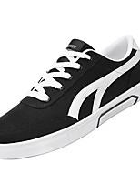 Недорогие -Муж. Комфортная обувь Полотно Осень Кеды Белый / Черный / Серый
