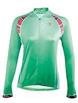 Недорогие -ILPALADINO Жен. Длинный рукав Велокофты - Зеленый Мода Велоспорт Джерси Верхняя часть, Ультрафиолетовая устойчивость 100% полиэстер