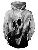 Недорогие -Вдохновлен KARNEVAL Косплей / Куки-аниме Аниме Косплэй костюмы Косплей толстовки Черепа Толстовка Назначение Универсальные Костюмы на Хэллоуин
