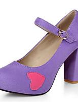 Недорогие -Жен. Комфортная обувь Полиуретан Весна Обувь на каблуках На шпильке Лиловый / Синий