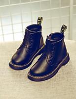 Недорогие -Девочки Обувь Лакированная кожа Наступила зима Армейские ботинки Ботинки Молнии для Дети Черный