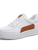 Недорогие -Жен. Комфортная обувь Полиуретан Лето Кеды На плоской подошве Черный / Желтый / Зеленый