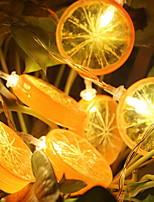 baratos -1.5m Cordões de Luzes 10 LEDs Branco Quente Decorativa Baterias AA alimentadas 1conjunto