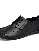 Недорогие -Муж. Комфортная обувь Кожа / Полиуретан Осень На каждый день Кеды Нескользкий Серый / Темно-русый / Темно-коричневый