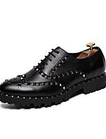 abordables -Homme Chaussures Formal Polyuréthane Printemps été / Automne hiver Simple / Britanique Oxfords Noir / Soirée & Evénement