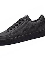 Недорогие -Муж. Комфортная обувь Полиуретан Осень На каждый день Кеды Нескользкий Черный / Серый / Коричневый