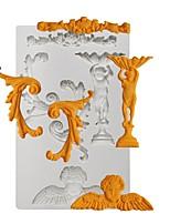 baratos -Ferramentas bakeware Silicone Novo Design / Nova chegada / Adorável Bolo / Biscoito / Chocolate Rectângular Sobremesa decoradores 1pç