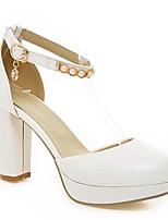 Недорогие -Жен. Комфортная обувь Полиуретан Весна Обувь на каблуках На толстом каблуке Черный / Зеленый / Розовый