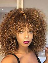 Недорогие -Парики из искусственных волос Кудрявый / Афро Квинки Свободная часть Искусственные волосы 26 дюймовый Для вечеринок / Классический / синтетический Темно-коричневый Парик Жен. Короткие / Да