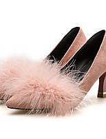 Недорогие -Жен. Балетки Полиуретан Осень Обувь на каблуках На клиновидном каблуке Заостренный носок Серый / Розовый / Хаки / Повседневные