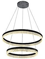 baratos -VALLKIN 2-luz Circular Lustres Luz Ambiente Galvanizar Acabamentos Pintados Metal Cristal, Ajustável 110-120V / 220-240V Branco Quente / Branco Frio / Branco Fonte de luz LED incluída / Led Integrado