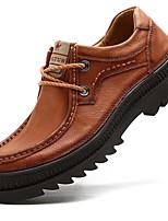 baratos -Homens Sapatos formais Pele Napa Outono Vintage / Casual Oxfords À Prova-de-Água Café / Marron