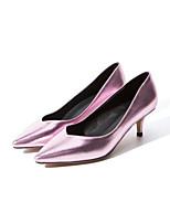 Недорогие -Жен. Комфортная обувь Синтетика Весна Обувь на каблуках На низком каблуке Черный / Красный / Розовый