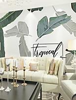 abordables -fond d'écran / Mural Toile Revêtement - adhésif requis Décoration artistique / Arbres / Feuilles / Mot