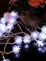 Недорогие -2м Гирлянды 20 светодиоды Белый Декоративная Аккумуляторы AA 1 комплект