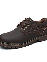 Недорогие -Муж. Комфортная обувь Кожа Осень На каждый день Туфли на шнуровке Доказательство износа Черный / Желтый / Коричневый
