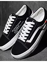 Недорогие -Муж. Комфортная обувь Замша Весна & осень Кеды Черный / Красный / Черно-белый