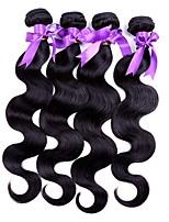 abordables -4 offres groupées Cheveux Indiens Ondulation naturelle Cheveux humains Tissages de cheveux humains / Extension / Bundle cheveux 8-28 pouce Couleur naturelle Tissages de cheveux humains Homme / Mode