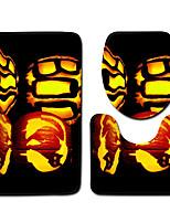 Недорогие -3 предмета Мультяшная тематика Коврики для ванны 100 г / м2 полиэфирный стреч-трикотаж Новинки Прямоугольная Ванная комната Милый