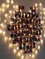 abordables -2m Guirlandes Lumineuses 128 LED EL Blanc Chaud Décorative 220-240 V 1 set