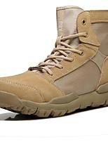 Недорогие -Жен. Комфортная обувь Наппа Leather Зима Спортивные / На каждый день Ботинки Для пешеходного туризма На плоской подошве Сапоги до середины икры Черный / Бежевый