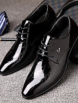 cheap -Men's Fall Casual Daily Oxfords Walking Shoes PU Breathable Non-slipping Wear Proof Black