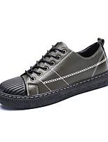 Недорогие -Муж. Комфортная обувь Замша Наступила зима На каждый день Кеды Контрастных цветов Черный / Красный / Зеленый
