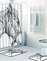 Недорогие -1 комплект Modern Коврики для ванны 100 г / м2 полиэфирный стреч-трикотаж Животное Прямоугольная Ванная комната Очаровательный