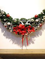 baratos -Ornamentos Férias Tecido / Plástico Cubo Brinquedo dos desenhos animados / Novidades Decoração de Natal
